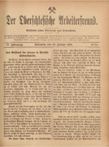 Der Oberschlesische Arbeiterfreund, 1903/1904, Jg. 4, No 84