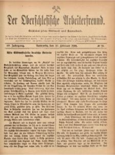 Der Oberschlesische Arbeiterfreund, 1903/1904, Jg. 4, No 90