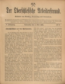 Der Oberschlesische Arbeiterfreund, 1904/1905, Jg. 5, No 13