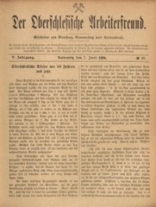 Der Oberschlesische Arbeiterfreund, 1904/1905, Jg. 5, No 27