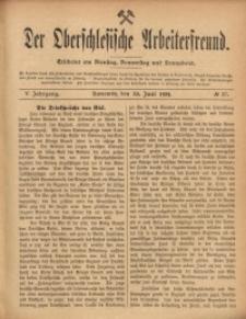 Der Oberschlesische Arbeiterfreund, 1904/1905, Jg. 5, No 37
