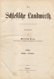 Der Schlesische Landwirth, 1865, [Jg. 1], Alphabetisches Sach-Register