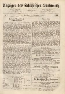 Anzeiger des Schlesischen Landwirth, 1865, [Jg. 1], No 7