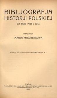 Bibljografja Historji Polskiej za rok 1933 i 1934
