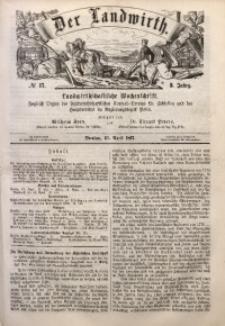 Der Landwirth, 1867, Jg. 3, No 17