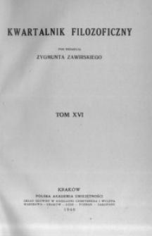 Kwartalnik Filozoficzny. R 16 (1939)