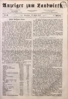 Anzeiger des Schlesischen Landwirth, 1867, Jg. 3, No 17