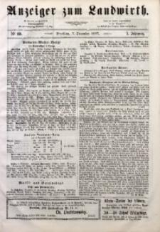 Anzeiger des Schlesischen Landwirth, 1867, Jg. 3, No 49