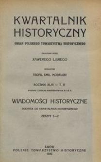 Wiadomości Historyczne 1932, z. 1/2