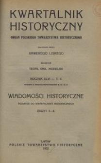 Wiadomości Historyczne 1932, z. 3/4