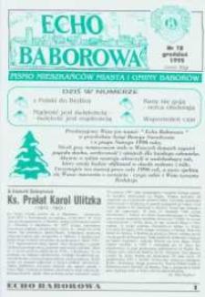 Echo Baborowa : pismo mieszkańców miasta i gminy Baborów 1995, nr 12.