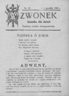Dzwonek, 1928, nr 28