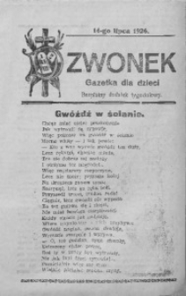 Dzwonek, 14 lipca 1926