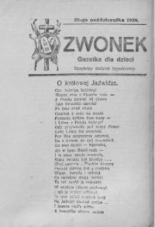 Dzwonek, 28 października 1926