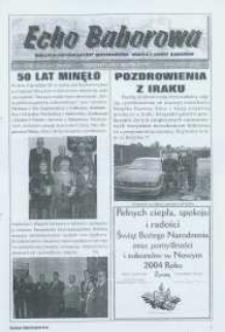 Echo Baborowa : pismo mieszkańców miasta i gminy Baborów 2003, nr 12.