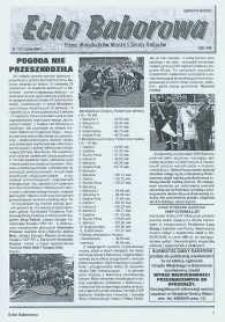 Echo Baborowa : pismo mieszkańców miasta i gminy Baborów 2004, nr 11.