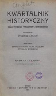 Kwartalnik Historyczny. R 45 (1931)