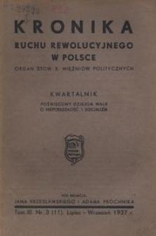 Kronika Ruchu Rewolucyjnego w Polsce, 1937, R.3, nr 3