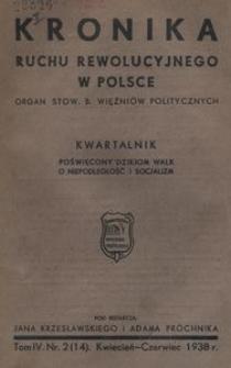 Kronika Ruchu Rewolucyjnego w Polsce, 1938, R.4, nr 2