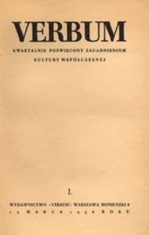 Verbum, 1938, z. 1