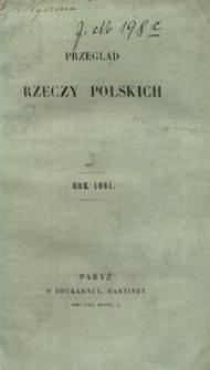 Przegląd Rzeczy Polskich. Zeszyt 12. Dnia 20 grudnia 1861 roku