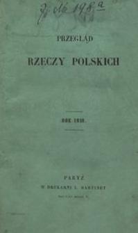 Przegląd Rzeczy Polskich. Zeszyt 4. Dnia 15 kwietnia 1859 roku