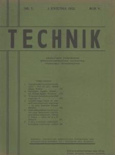 Technik, 1932, R. 5, nr 7