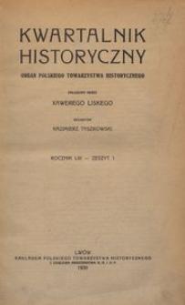Kwartalnik Historyczny. R 53 (1939)