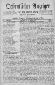 Oeffentlicher Anzeiger für den Kreis Pleß, 1898, Jg. 46, Nro. 7