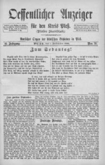 Oeffentlicher Anzeiger für den Kreis Pleß, 1893, Jg. 41, Nro. 70