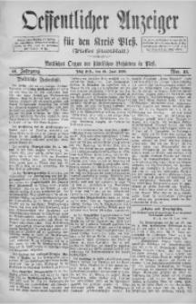 Oeffentlicher Anzeiger für den Kreis Pleß, 1898, Jg. 46, Nro. 46