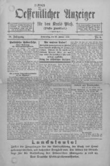 Oeffentlicher Anzeiger für den Kreis Pleß, 1921, Jg. 70, Nr. 8