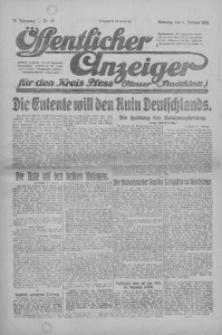 Oeffentlicher Anzeiger für den Kreis Pleß, 1921, Jg. 70, Nr. 17