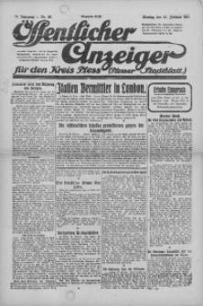 Oeffentlicher Anzeiger für den Kreis Pleß, 1921, Jg. 70, Nr. 30