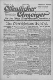Oeffentlicher Anzeiger für den Kreis Pleß, 1921, Jg. 70, Nr. 39