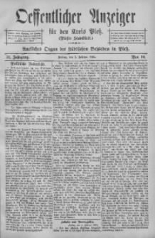 Oeffentlicher Anzeiger für den Kreis Pleß, 1904, Jg. 52, Nro. 10