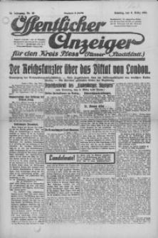 Oeffentlicher Anzeiger für den Kreis Pleß, 1921, Jg. 70, Nr. 50