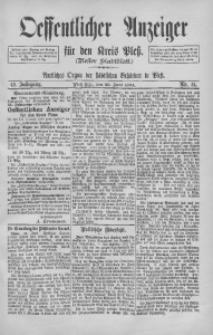 Oeffentlicher Anzeiger für den Kreis Pleß, 1894, Jg. 42, Nr. 51