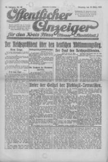 Oeffentlicher Anzeiger für den Kreis Pleß, 1921, Jg. 70, Nr. 66