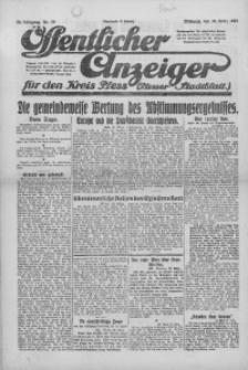 Oeffentlicher Anzeiger für den Kreis Pleß, 1921, Jg. 70, Nr. 73