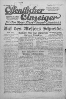 Oeffentlicher Anzeiger für den Kreis Pleß, 1921, Jg. 70, Nr. 104