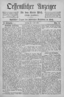 Oeffentlicher Anzeiger für den Kreis Pleß, 1904, Jg. 52, Nro. 52