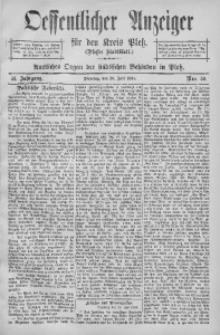 Oeffentlicher Anzeiger für den Kreis Pleß, 1904, Jg. 52, Nro. 59