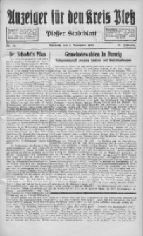 Anzeiger für den Kreis Pleß, 1934, Jg. 83, Nr. 86