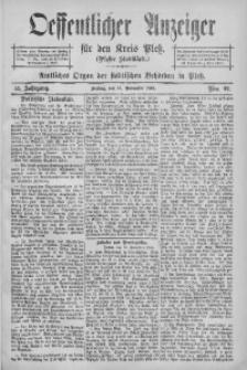 Oeffentlicher Anzeiger für den Kreis Pleß, 1904, Jg. 52, Nro. 92