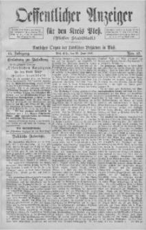Oeffentlicher Anzeiger für den Kreis Pleß, 1897, Jg. 45, Nro. 52