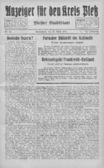 Anzeiger für den Kreis Pleß, 1935, Jg. 84, Nr. 32