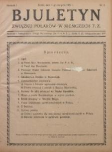 Bjuletyn Związku Polaków w Niemczech T. Z., 1924, R. 1, Nr. 2