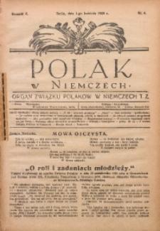 Polak w Niemczech, 1928, R. 5, Nr. 4