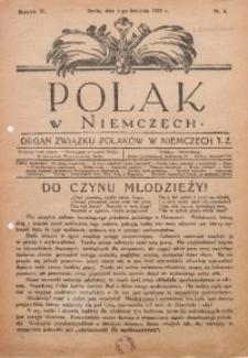 Polak w Niemczech, 1929, R. 6, Nr. 4